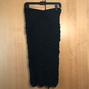 Burberry Prorsum black strapless dress size 46